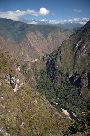 Machu Picchu, Peru - View of Urubamba River Valley to the West (2008-07-05)