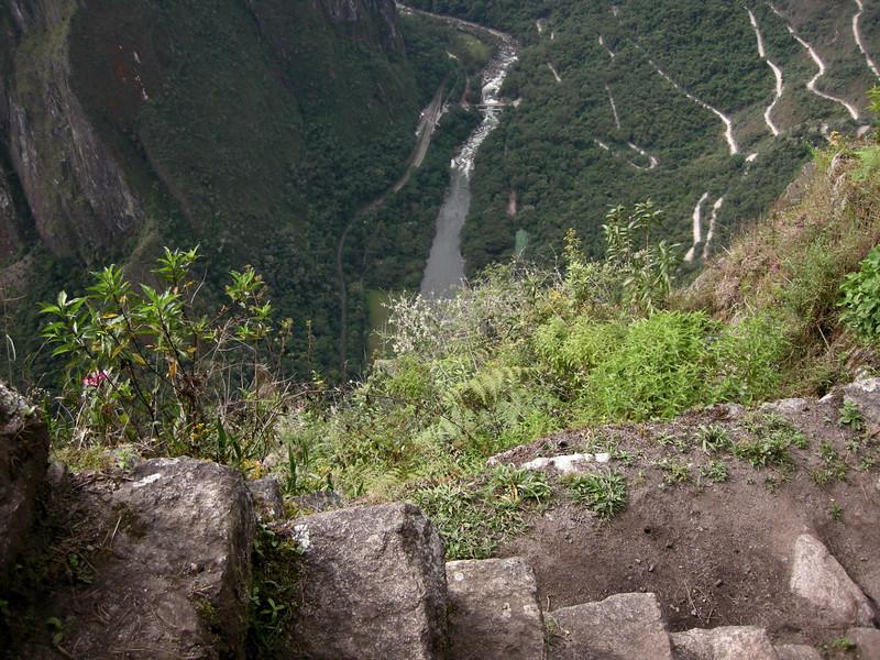 Machu Picchu, high on Huayna Picchu - don't lose your step!