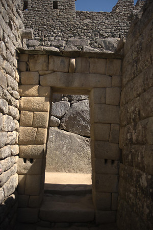 Machu Picchu, Peru - Double-Jamb Doorway Backt (2008-07-05)