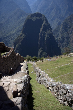 Machu Picchu, Peru - Moat along City Wall (2008-07-05)