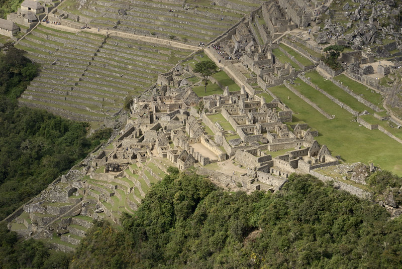 Machu Picchu, the Urban Sector, from Huayna Picchu.