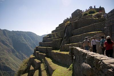 Machu Picchu, Peru - Agricultural Terraces Below Intiwantana (2008-07-05)