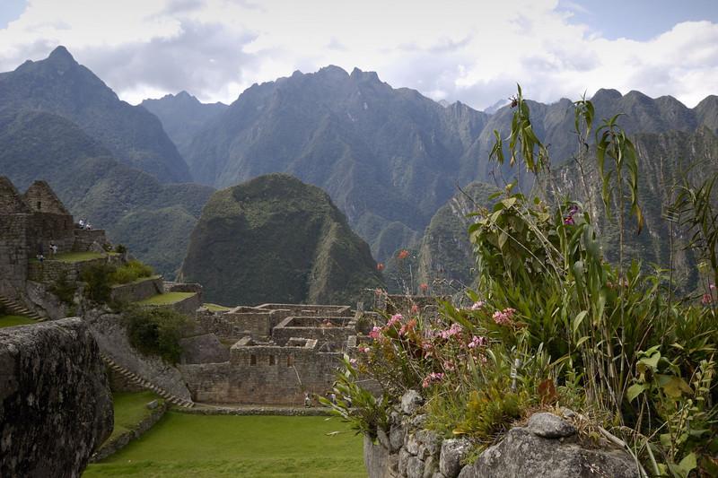 Machu Picchu, looking across the Plaza.