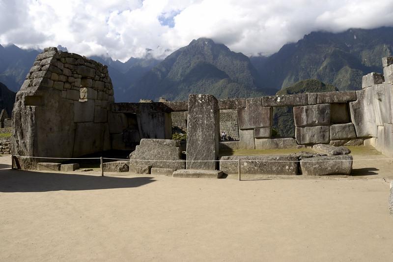 Machu Picchu, inside the Temple of Three Windows.