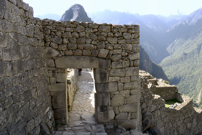 Machu Picchu, the entrance gate to the citidal.