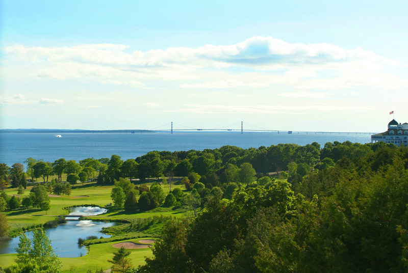 View towards the Straits of Mackinac from Fort Mackinac