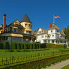 historic Victorian homes sits hgh on West Bluff overlooking the Straits of Mackinac.