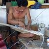 Guitar factory worker in Cebu, Philippines.