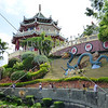 View at the Taoist temple located in Beverly Hills Subdivision of Cebu City, Philippines.