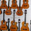 Guitar factory displays in Cebu, Philippines.