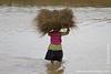 Village Woman Working in the Fields