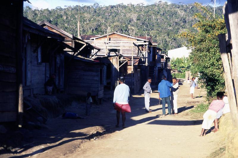 Street in Andasibe, Madagascar.