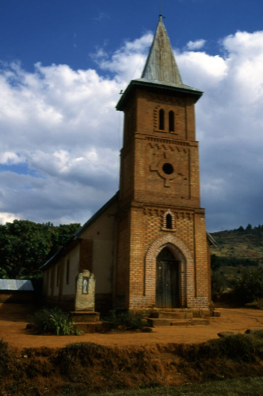 Church on the way to Ambositra, Madagascar.