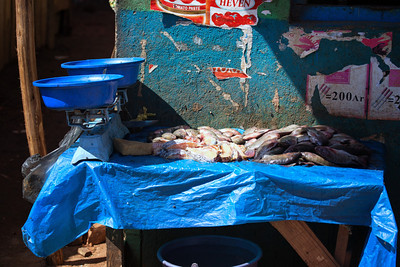 Fish stall, Antananarivo