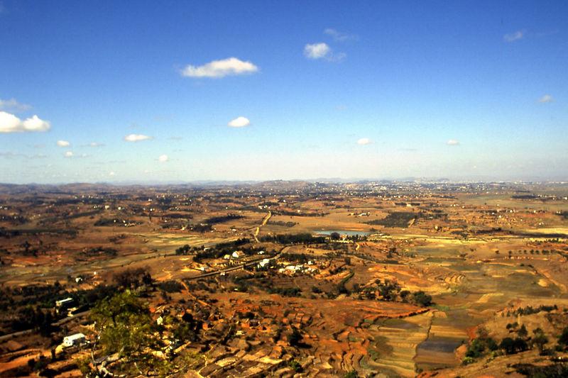 View of Antananarivo, Madagascar for King's Palace.