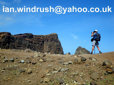 Photographing volcanic rock formations on Ponta de Sao Lourenco, Madeira 2009