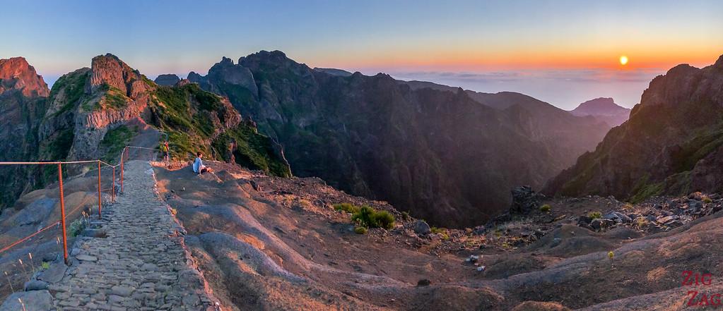 Beginning of the hike PR1 at sunrise