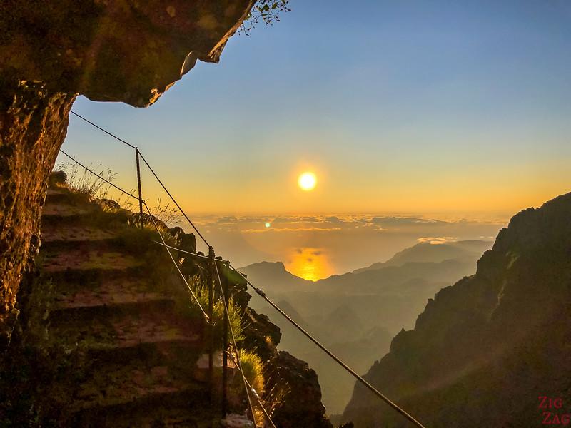 Verada do Arieiro Wanderung Madeira Sonneneingang