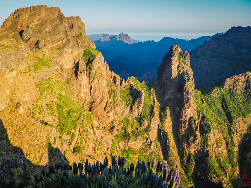 Jagged mountain scenery in Madeira