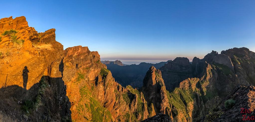 Pico do Arieiro to Pico Ruivo hike - Miradouro do Ninho da Manta