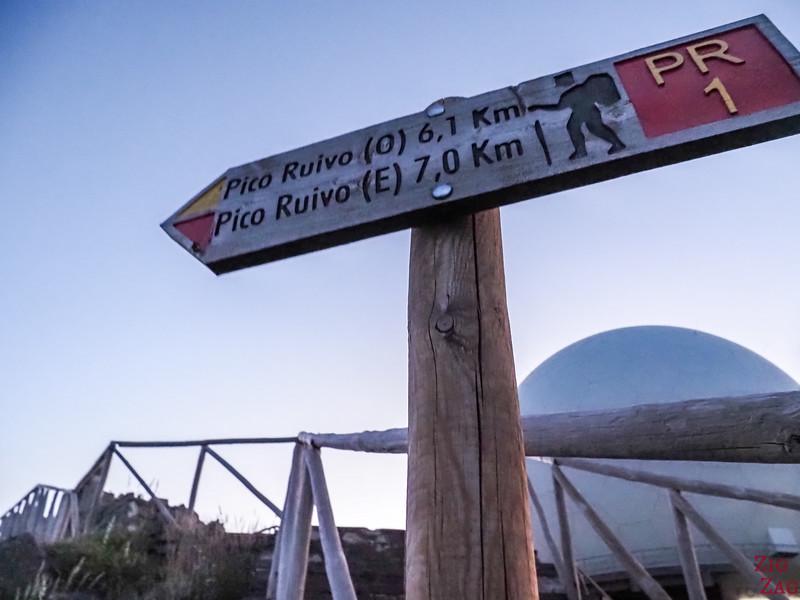 Pico do Arieiro to Pico Ruivo hike PR1