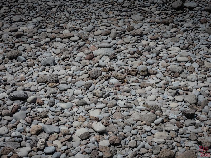 Pebbles on Madeira beaches