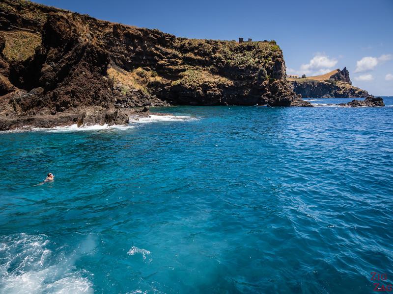 Praia dos Reis Magos - felsiger Teil