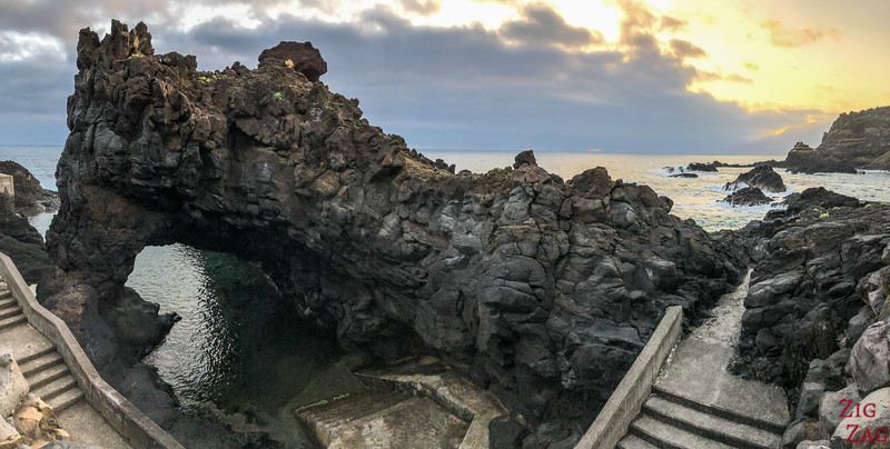 Seixal natural pools and lava arch