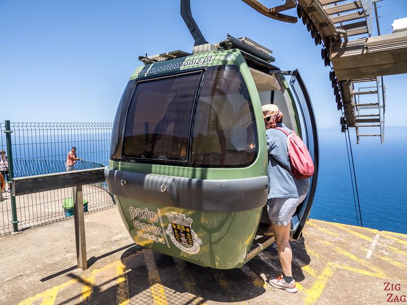 Fahrt mit der Seilbahn von Porto Moniz