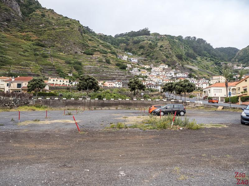 Porto Moniz Parkplatz