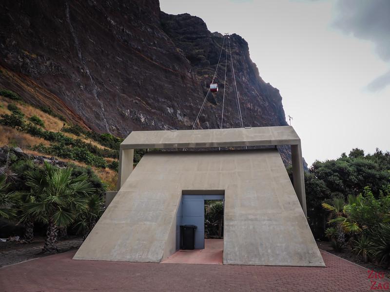Téléphérique de Cabo Girao - vue d'en bas