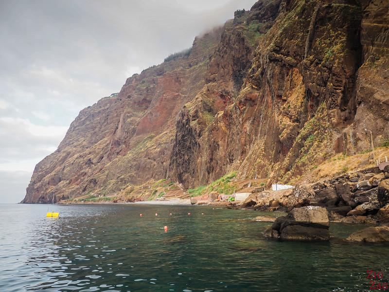 Cabo Girao - falaises depuis le bas