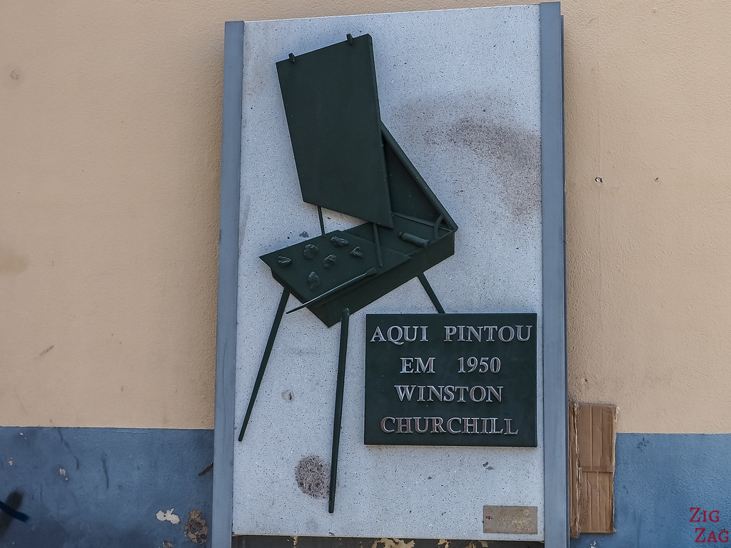 Churchill - painting in Camara de Lobos