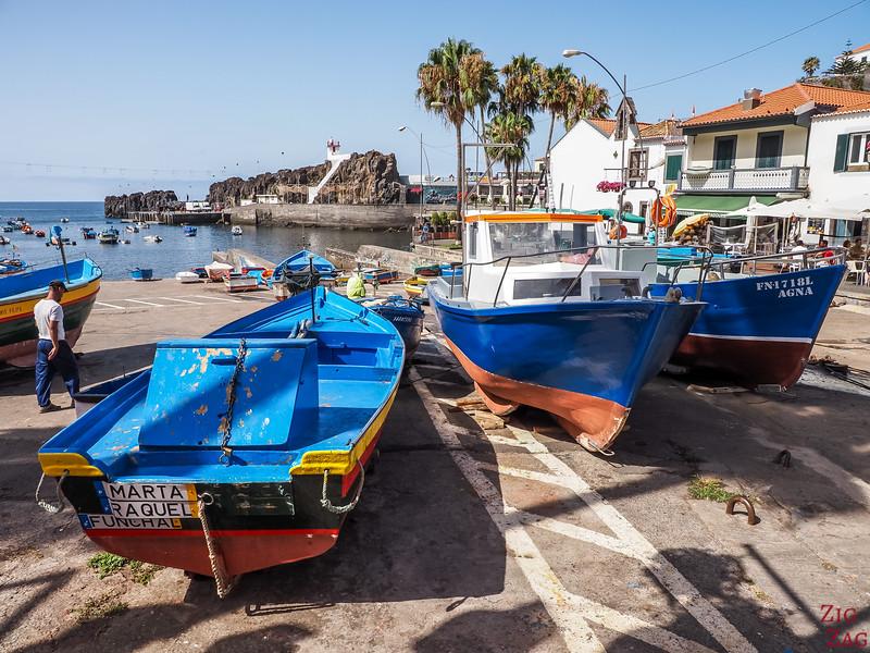 Camara de Lobos fishing port