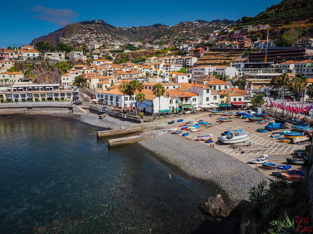 Camara de Lobos Promenade - view town