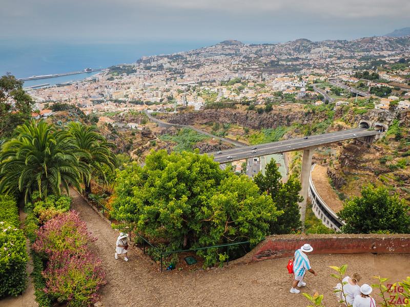 Direkt vor dem Botanischen Garten - Aussichtspunkt von Funchal