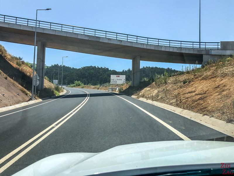 Schnelle Straße auf Madeira
