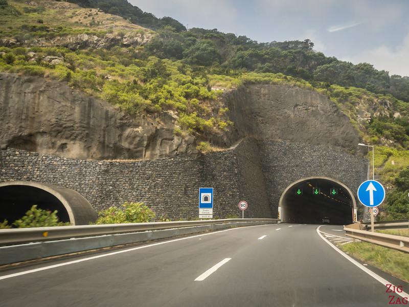 Straßen in Tunneln auf Madeira