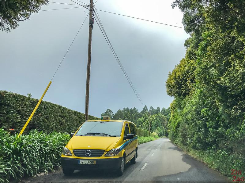 Taxi to get around Madeira