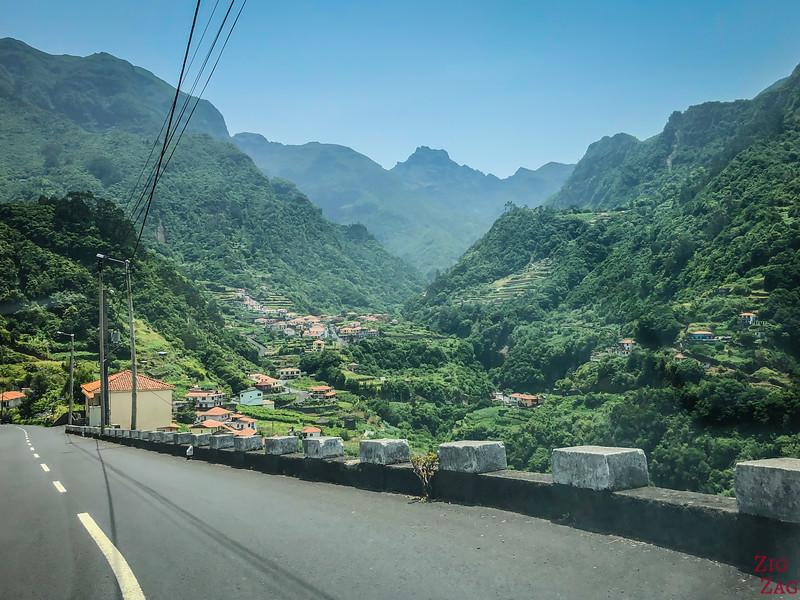 Fahren in den Bergen Madeiras