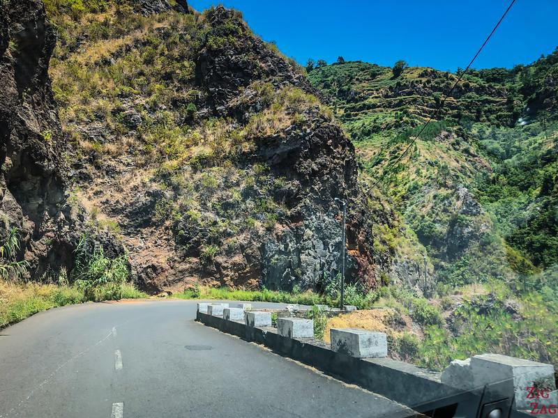 Bergstraße auf Madeira