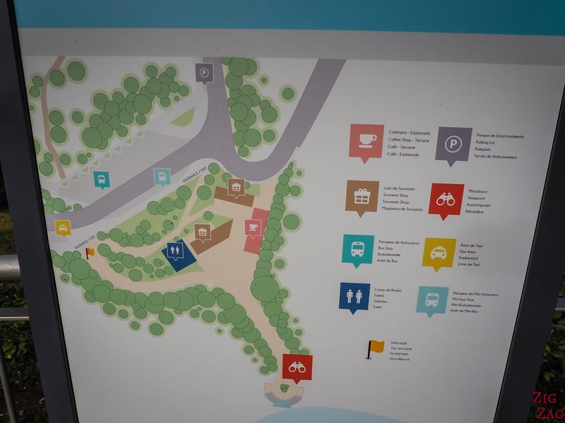 Cabo Girao Skywalk plan