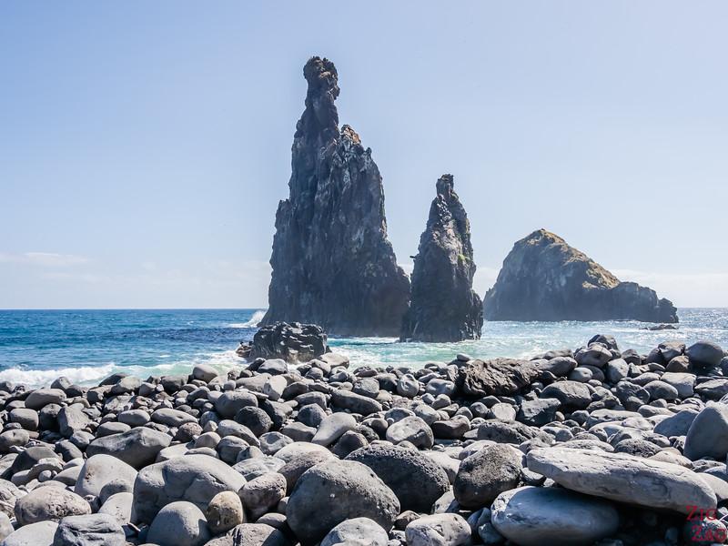 Praia Ilheus da Ribeira da Janela beach - sea stacks