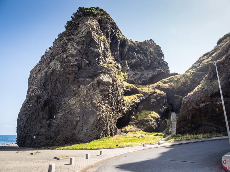 Staircase in cliffs to Mirador Ilheus da Ribeira da Janela