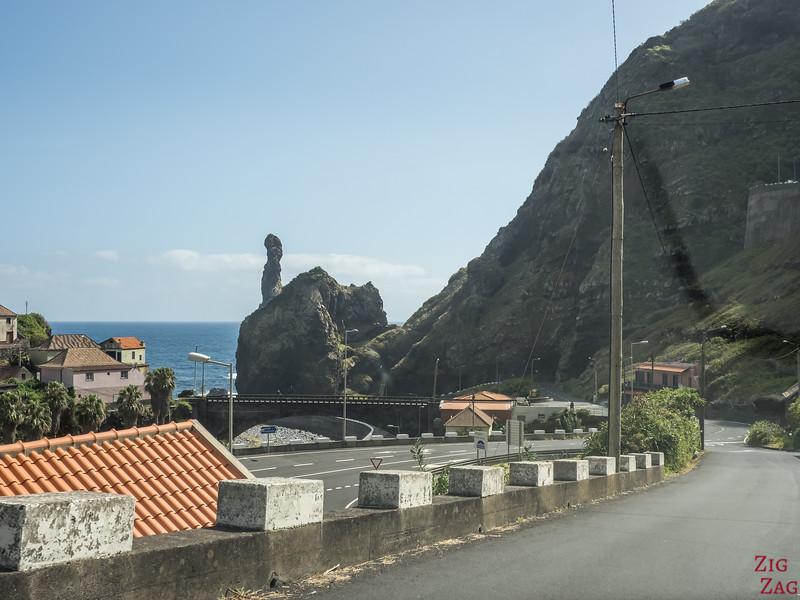 Road to Ribeira da Janela beach
