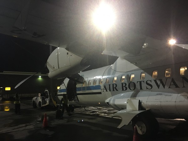 Our small prop plane from Johannesburg, South Africa to Gaborone, Botswana