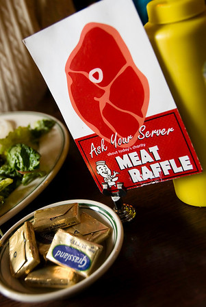 We note, but decline to participate in, the Meat Raffle. We participate whole heartedly in a delicious lunch, though.