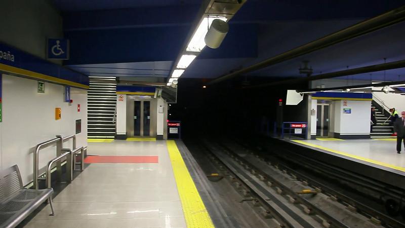 Metrostation at 'Plaza de Espana'.