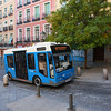 Electric mini-bus (Public Transportation) running mainly in small sidestreets. Madrid is already ahead of the Kopenhagen Treaty, it seems...