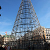 The metal 'Christmas tree', that is nicely iluminated during nighttime,,,